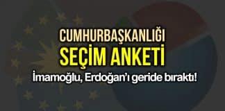 Cumhurbaşkanlığı seçimi anketi: İmamoğlu, Erdoğan geride bıraktı avrasya anket