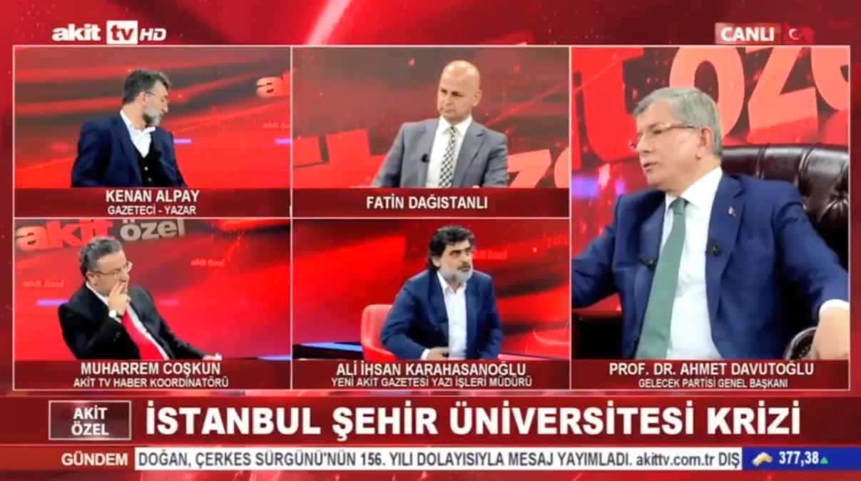 Canlı yayında gergin anlar: Yeni Akit yazarı Davutoğlu nu çıldırttı!