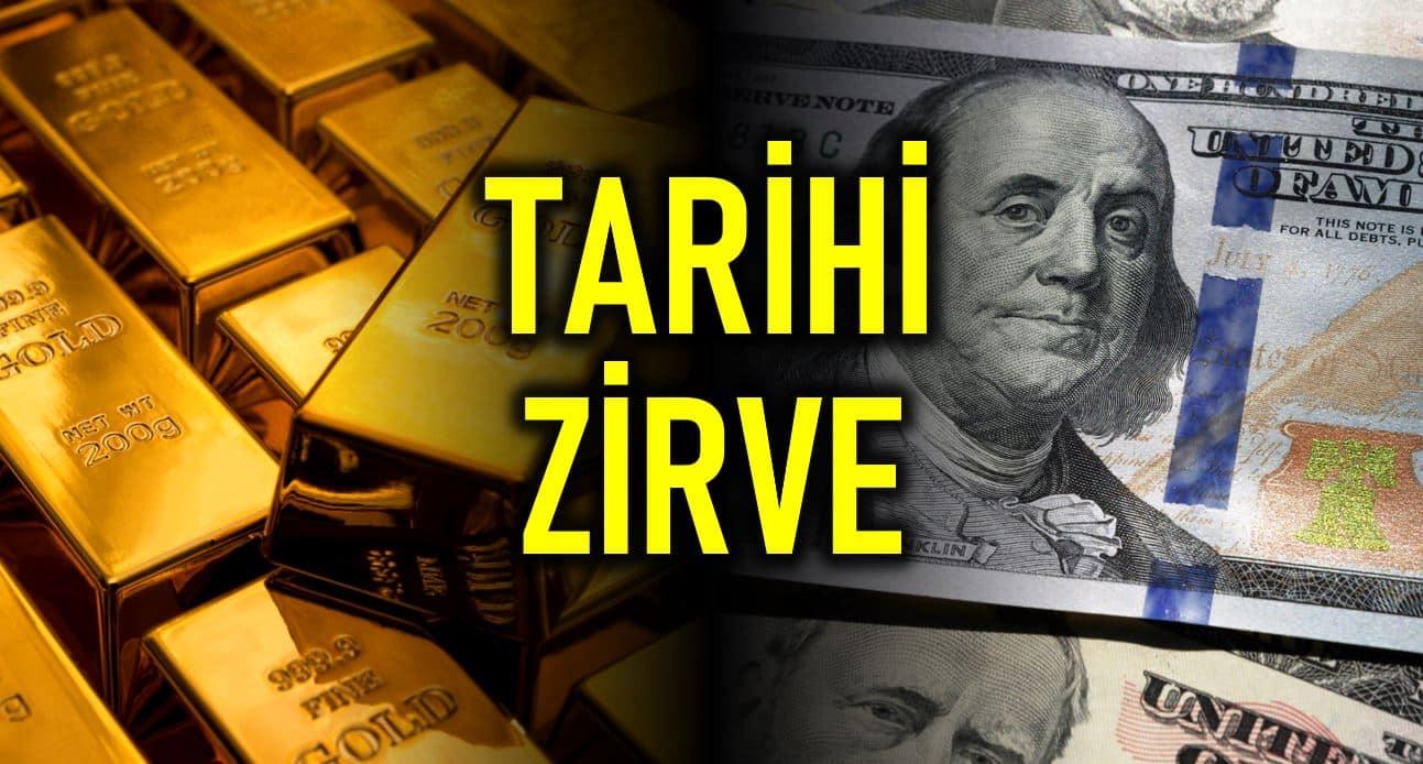 Dolar/TL 7,26 yı, Gram Altın 395 TL yi aşarak yeni zirveyi gördü tarihi rekor