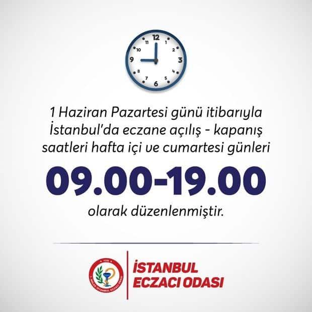 İstanbul'da eczanelerin çalışma saatleri değişti!