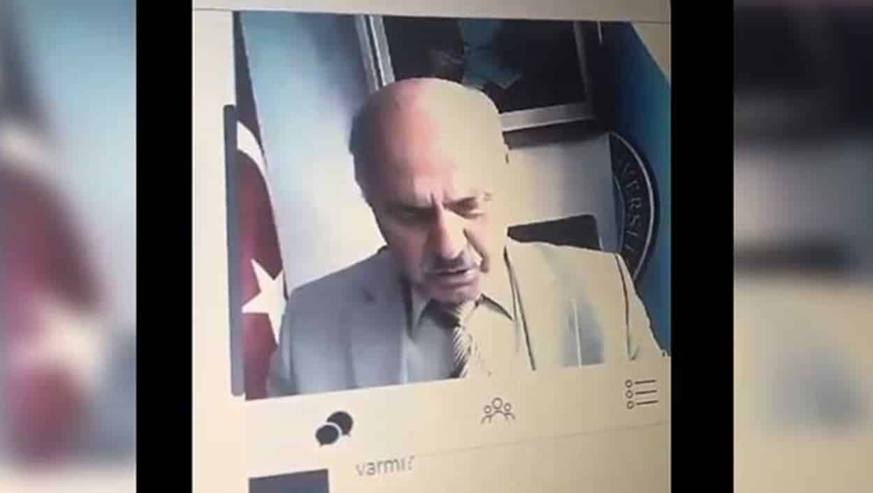 Kamerayı açık unutan Dekan Orhan Acar: Kızların resimlerini de görüyoruz böylece, çaktırma