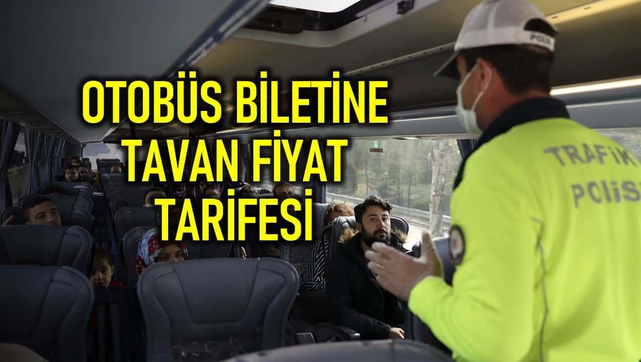 Otobüs bileti tavan fiyat düzenlemesi Resmi Gazete