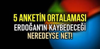 5 anket ortalaması: Son seçim anketlerine göre Erdoğan'ın oy oranı