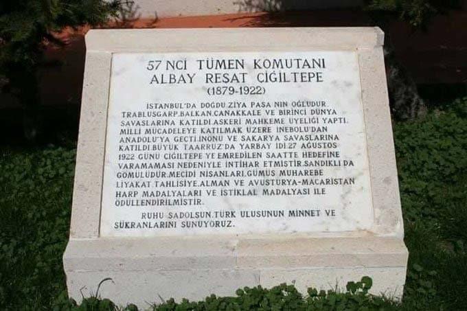 afyon çiğiltepe şehitlik anıtı