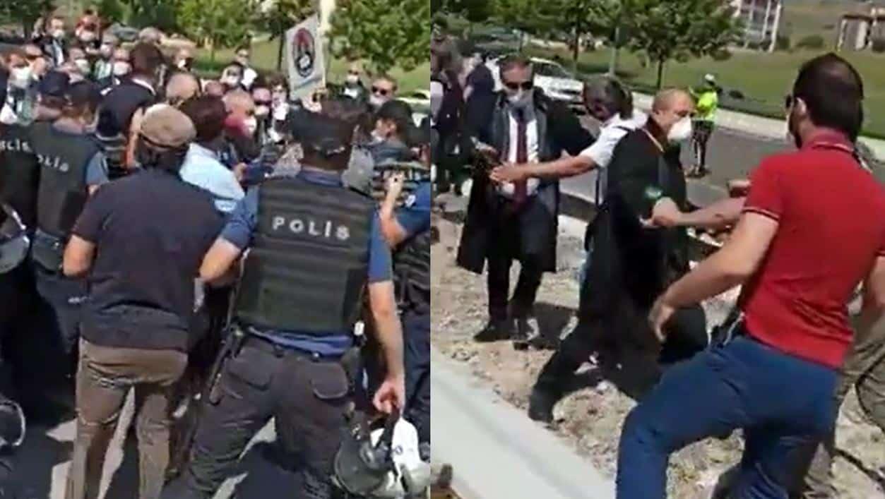 Ankara da baroların yürüyüşüne polis engeli - Video