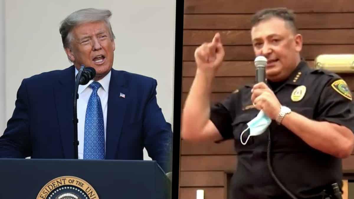 Houston Emniyet Müdürü art Acevedo donald Trump Söyleyecek yapıcı bir şeyin yoksa çeneni kapa!