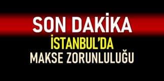 İstanbul açık alanlarda maske zorunluluğu getirildi!