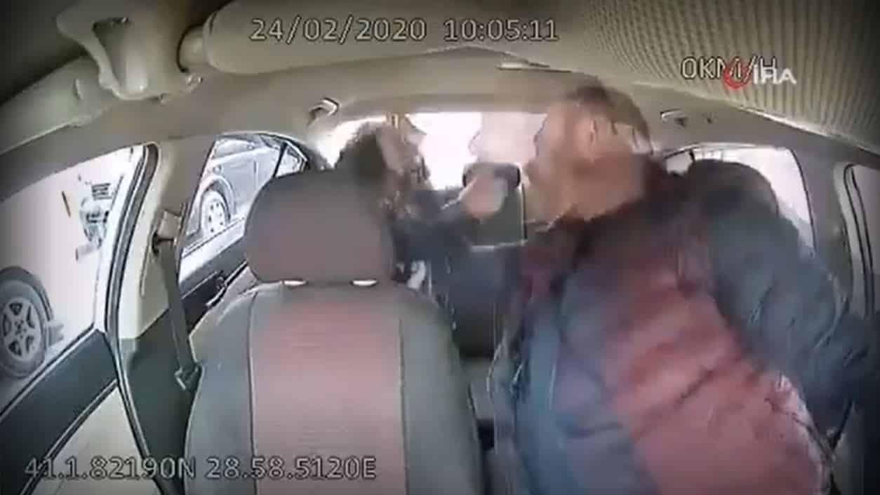 İstanbul da taksici kadına yumruk attı, yere yatırıp boğazını sıktı
