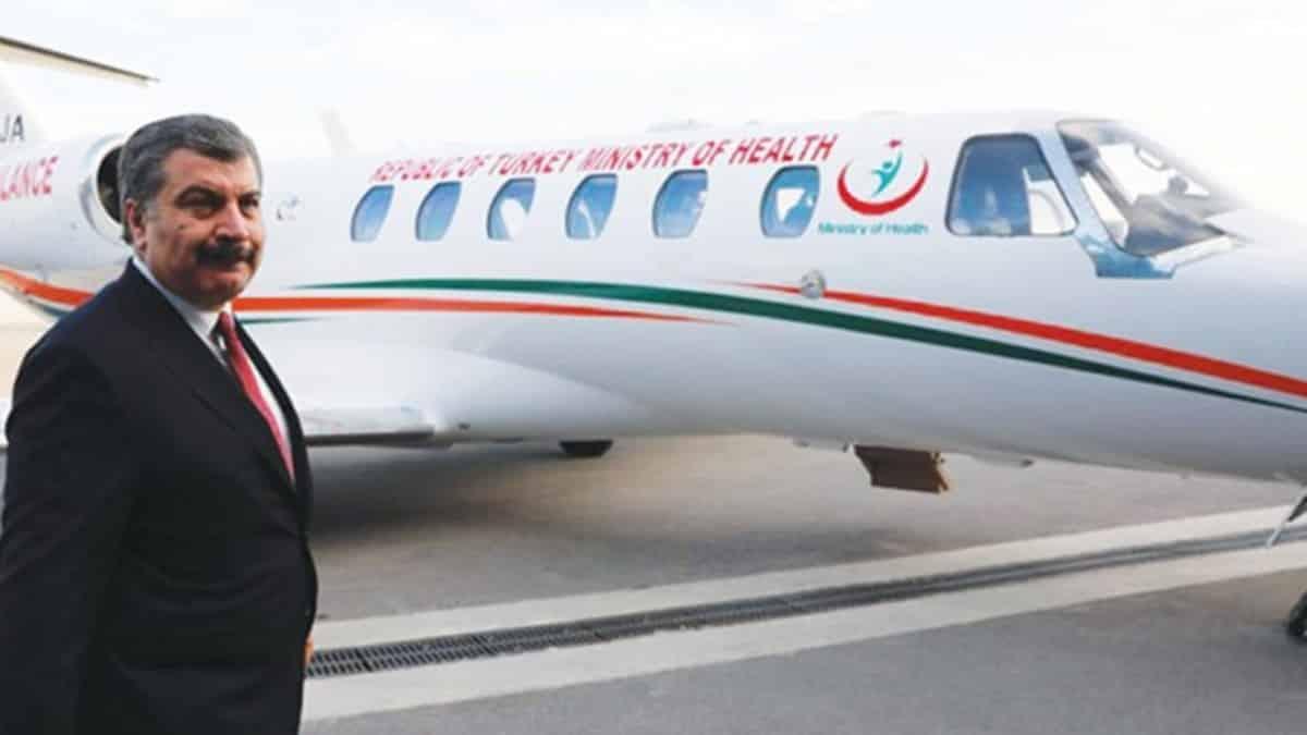 Katar merkezli şirketten kiralanan ambulans uçaklara günlük 2 saat uçuş garantisi verilmiş