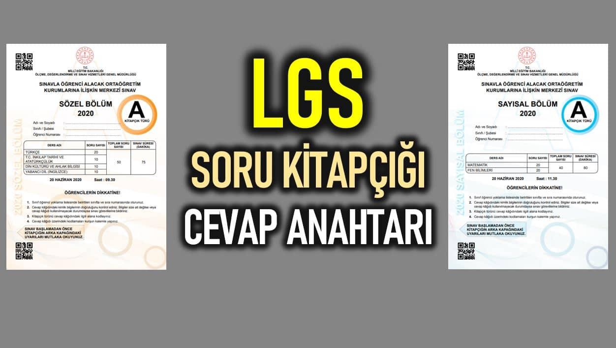 LGS 2020 soru kitapçığı ve cevap anahtarı yayınlandı!