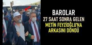 Metin Feyzioğlu 27 saat sonra yürüyüşe geldi: Barolar arkasını döndü!