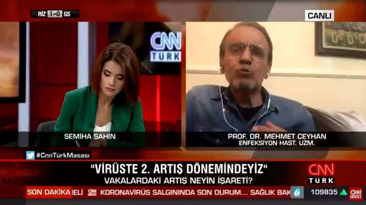 Prof. Ceyhan YKS ye virüs taşıyanlar da girecek dedi, yayın kesildi!