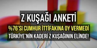 Z Kuşağı anketi: Türkiye nin kaderi yeni nesil Z kuşağının elinde!