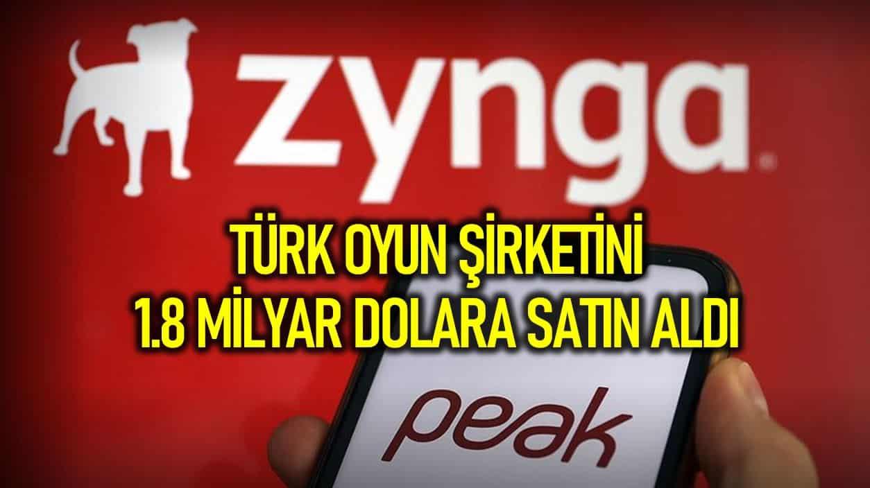 Zynga, Türk mobil oyun şirketi Peak Games 1.8 milyar dolara satın aldı!