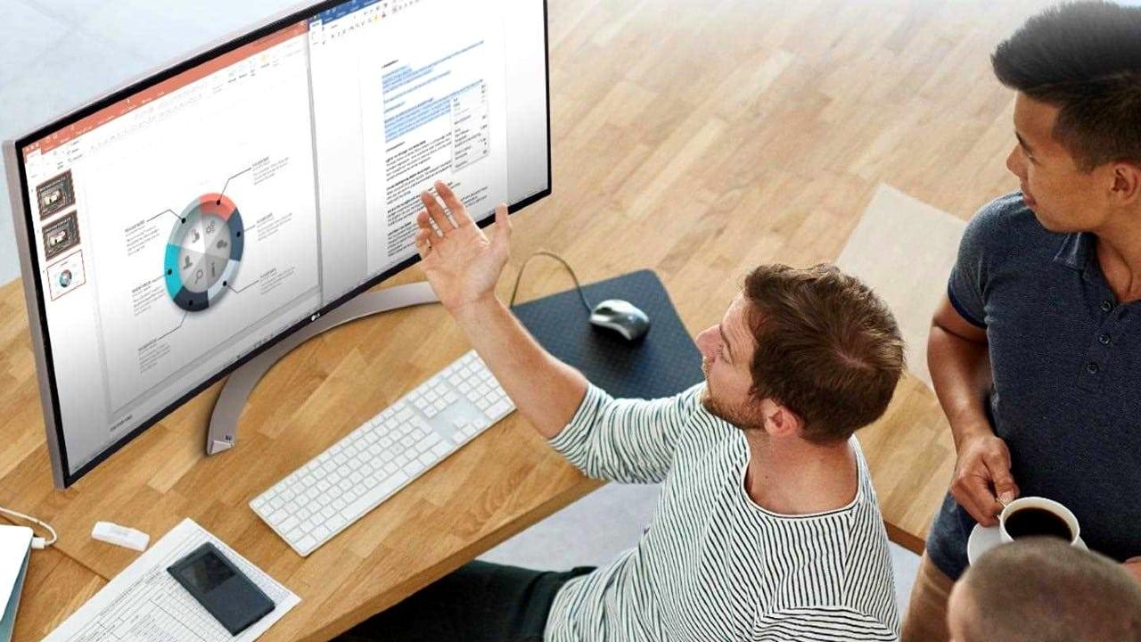 ergonomik çalışma monitör