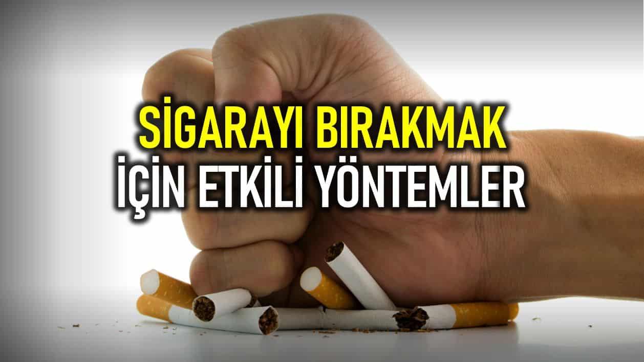 sigarayı bırakmak yöntemler