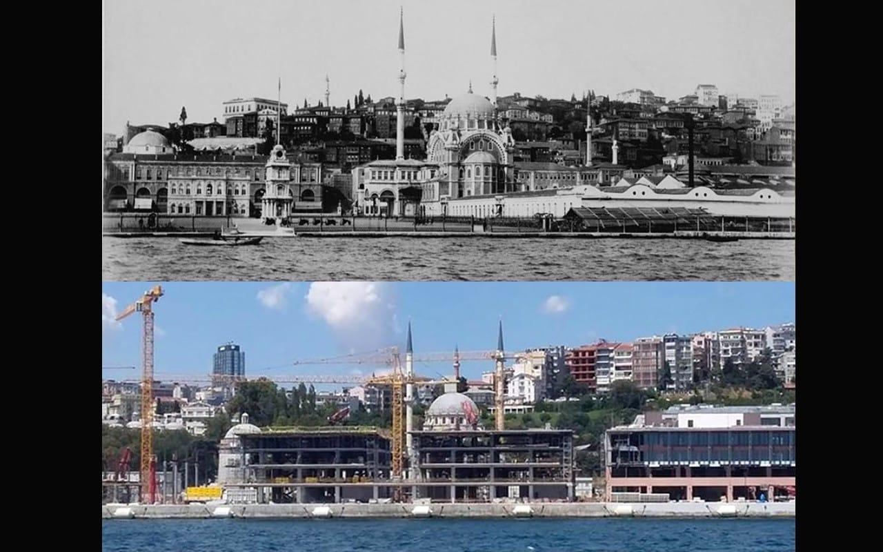 Galataport inşaatı Nusretiye Cami silüetini yok etti!