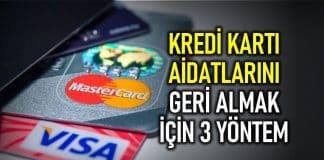 kredi kartı aidat