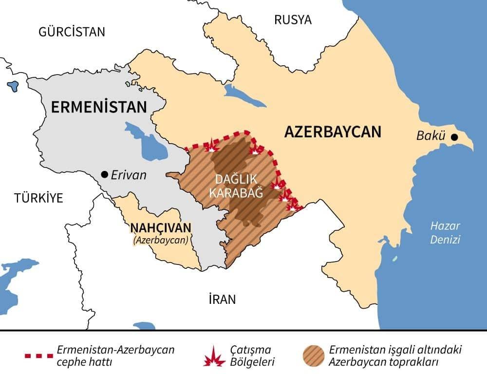 azerbaycan harita