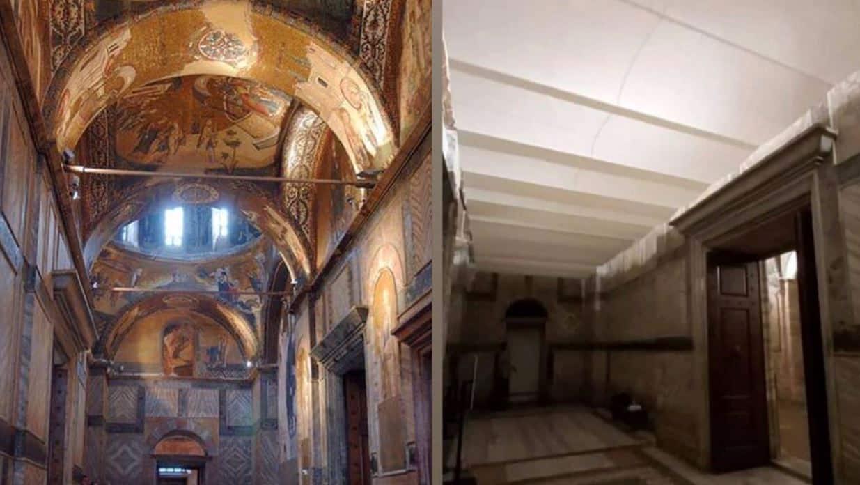kariye müzesi fresk mozaikler kapatıldı