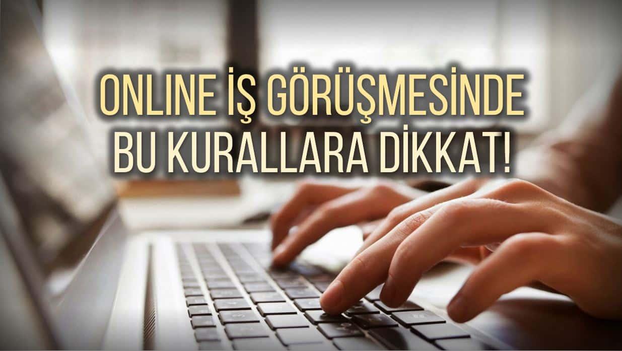 Online iş görüşmelerinde