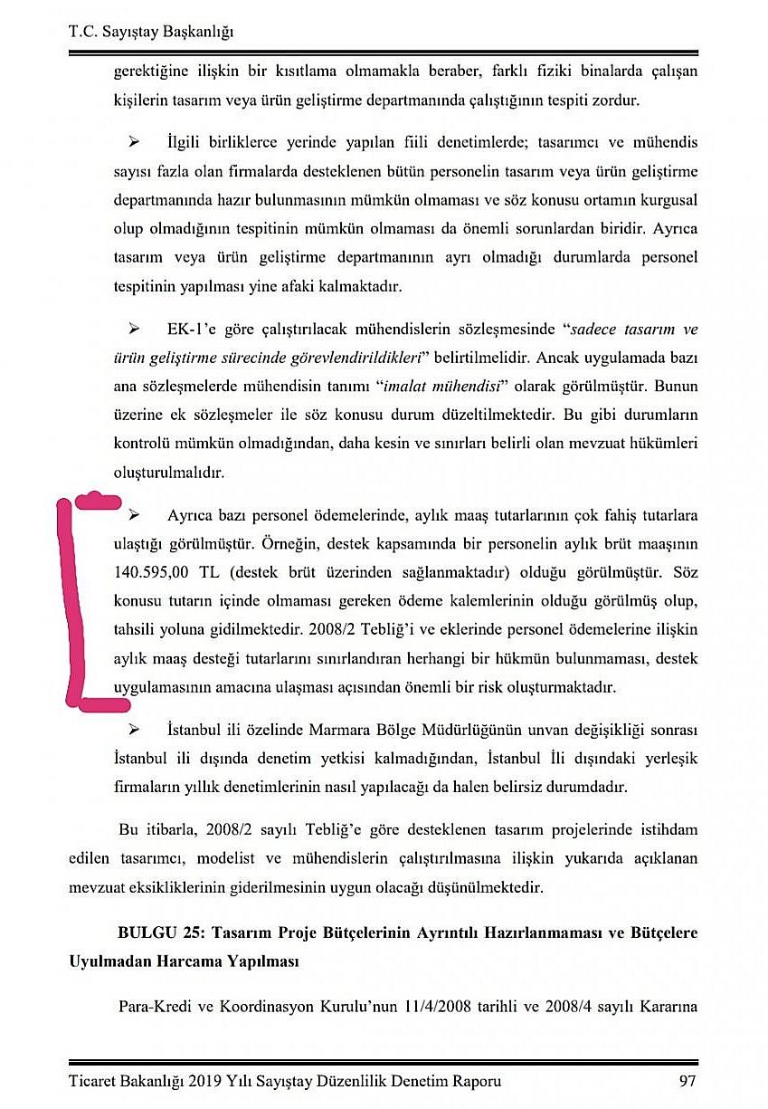 sayıştay raporu