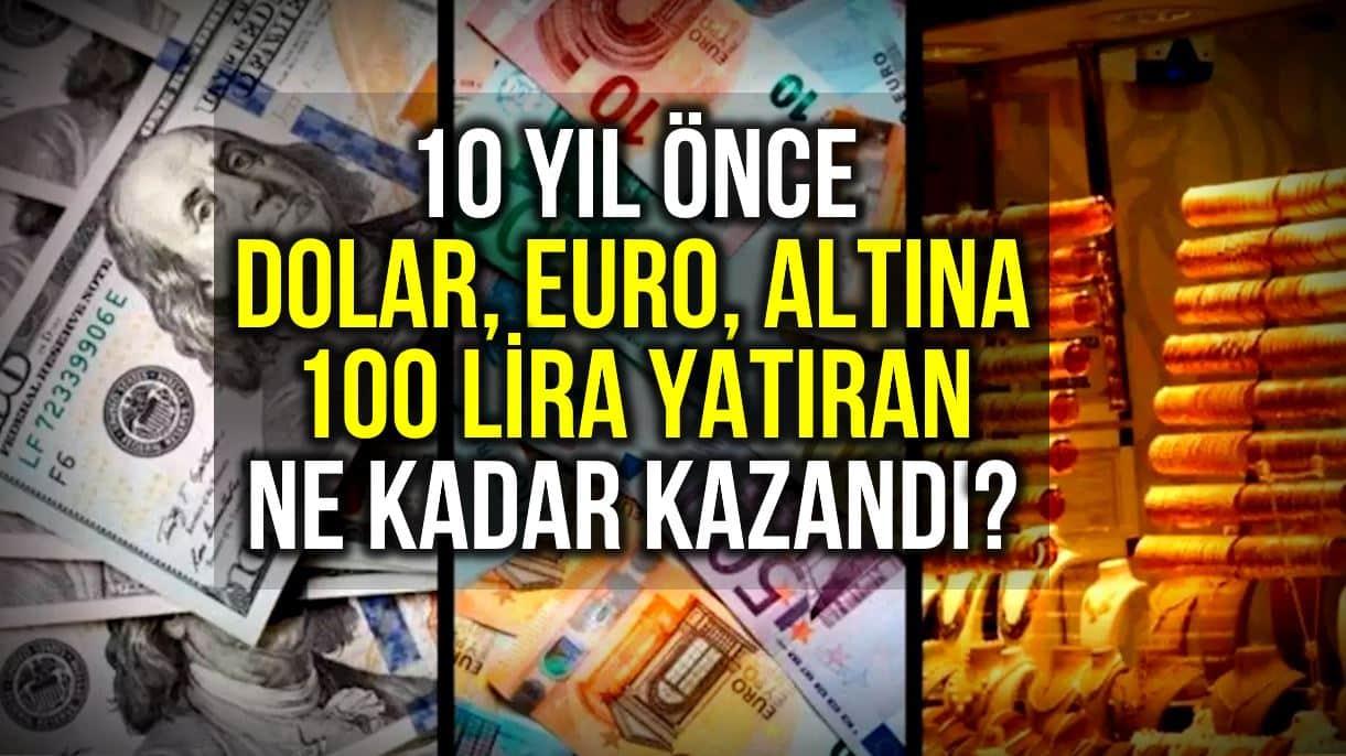yatırım dolar euro altın