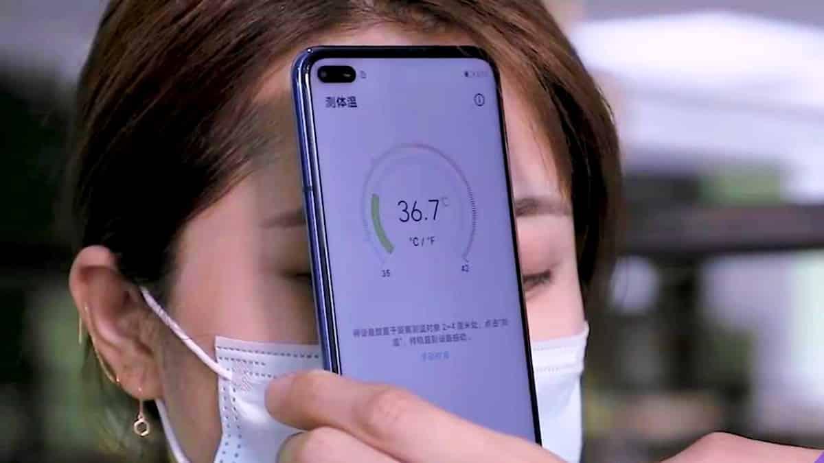 Ateş ölçen akıllı telefon Huawei