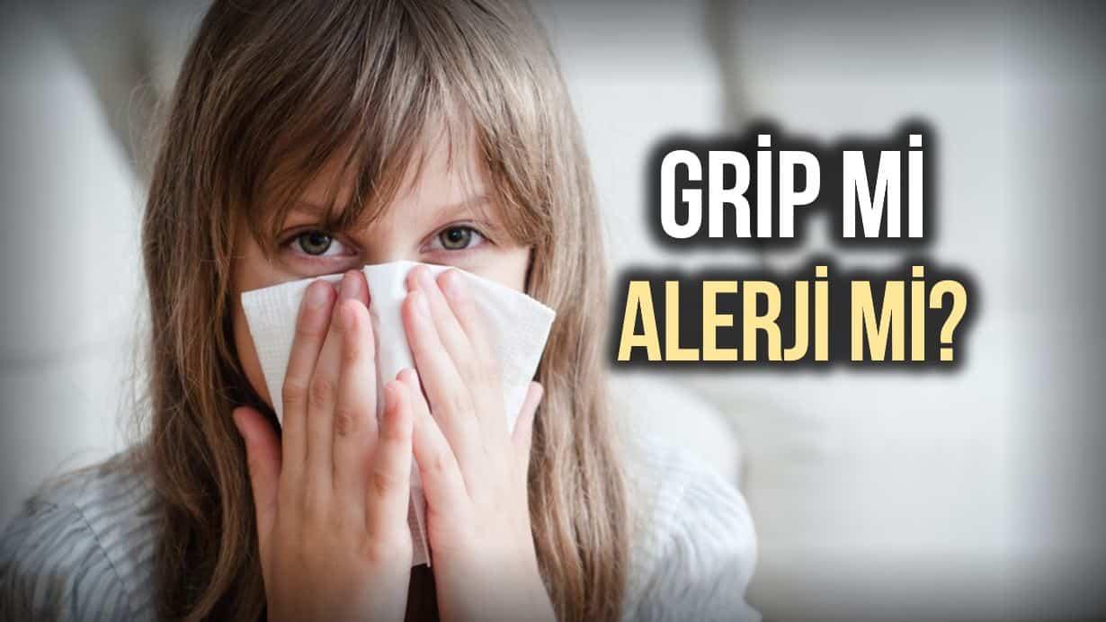 Grip mi, alerjik reaksiyon mu