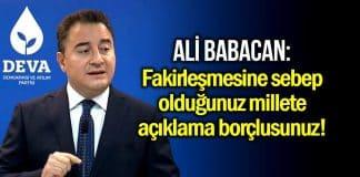 Ali Babacan: Yüksek faiz vatana ihanettir diyordunuz, şimdi ne oldu?