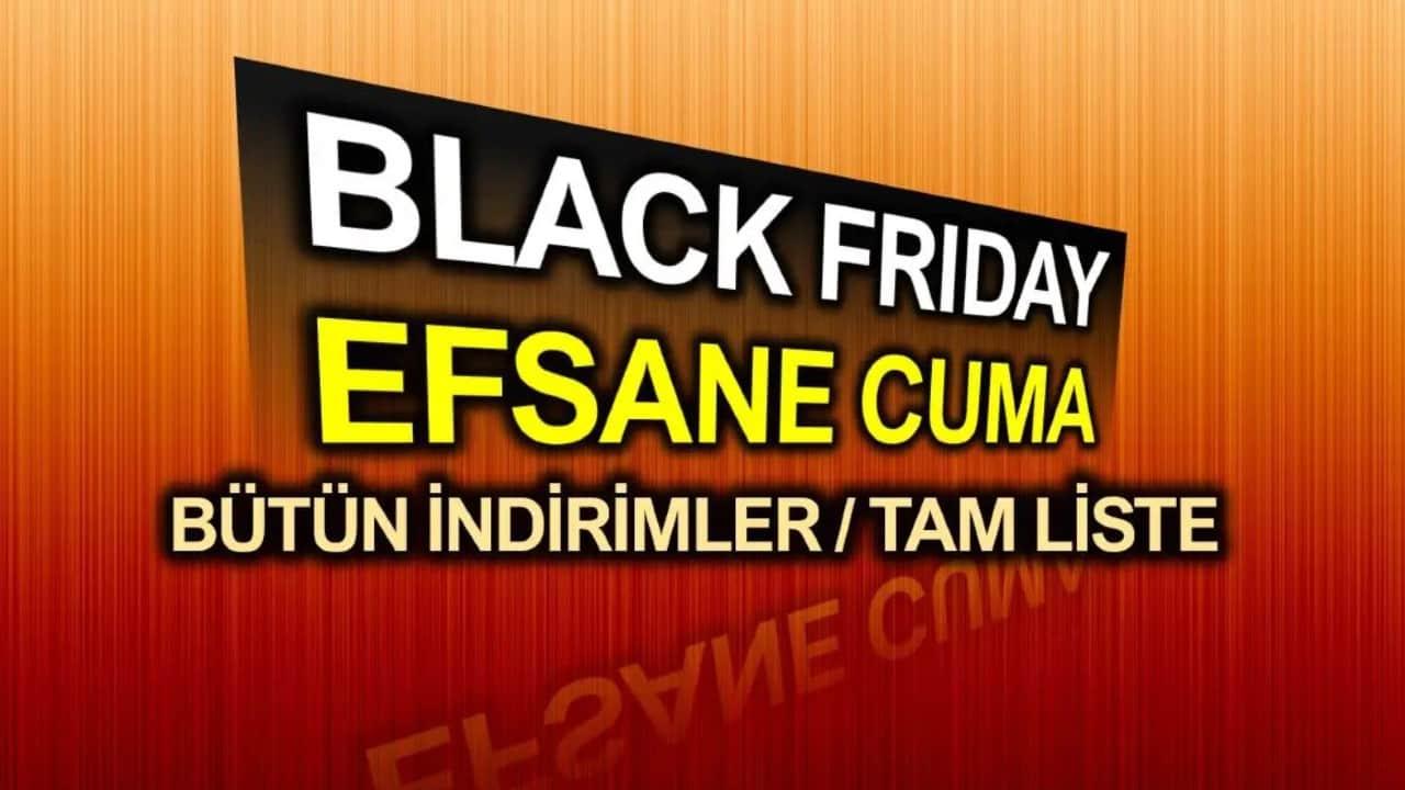 Black Friday (Efsane Cuma) indirim fırsatları: Tüm indirimler, tam liste!