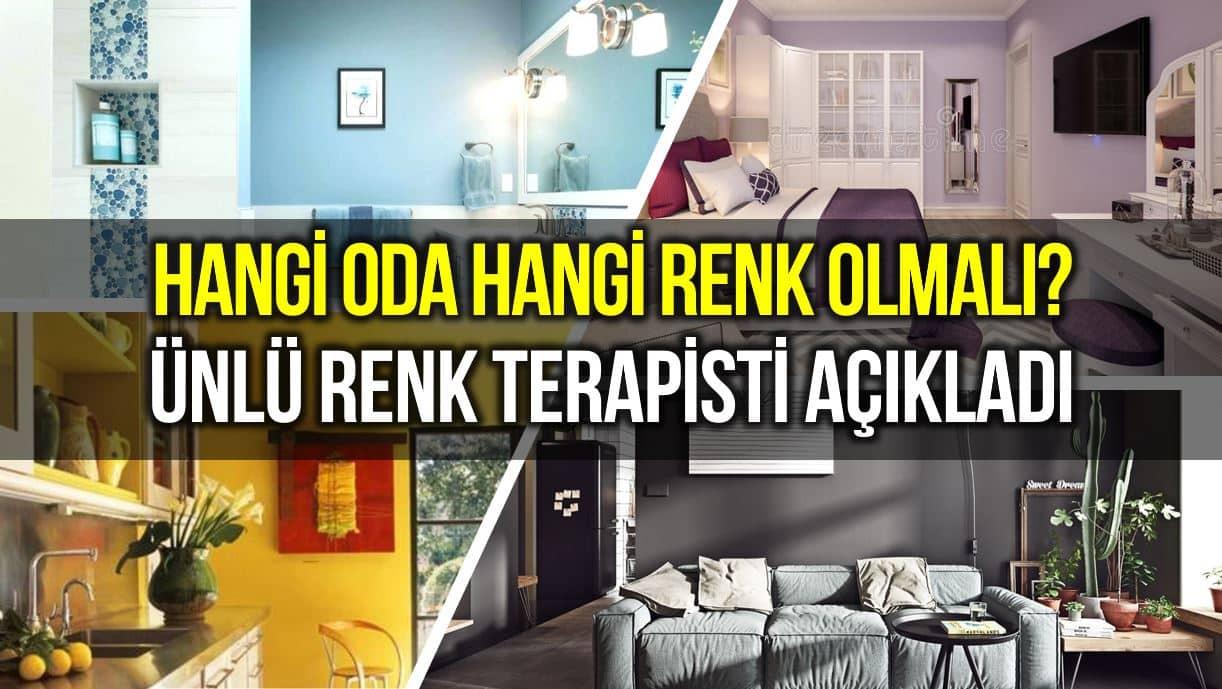 Hangi odayı hangi renge boyamalısınız? Ünlü renk terapistinden öneriler