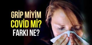covid grip farkı