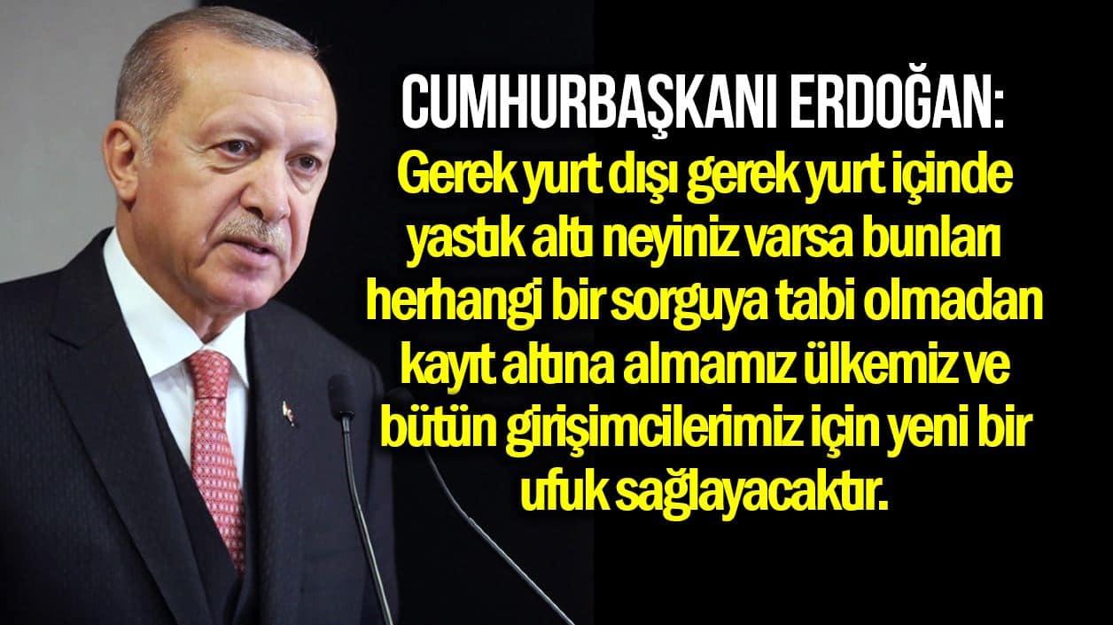 erdoğan yastık altı