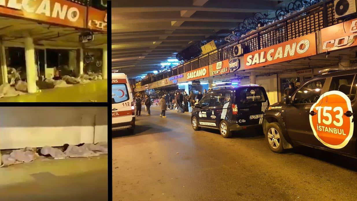 İstanbul Saraçhane de evsiz vatandaşların alt geçitte uyuması İBB