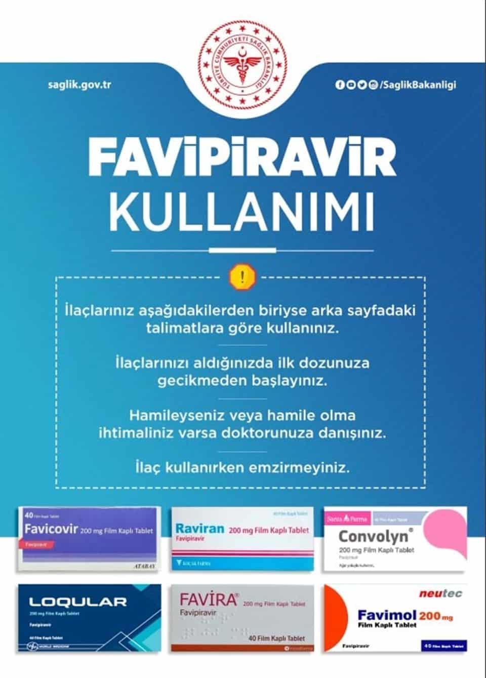 favipiravir ilaç kullanımı