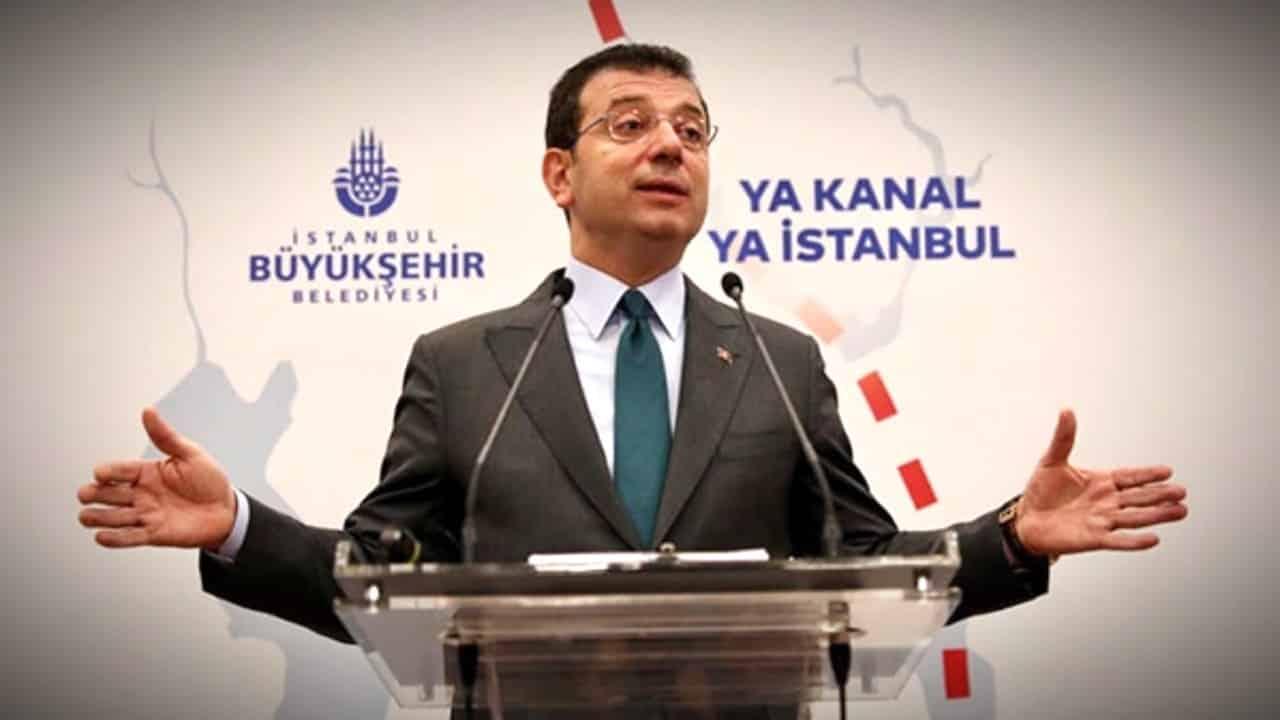 ekrem imamoğlu ya kanal ya istanbul afişleri soruşturma