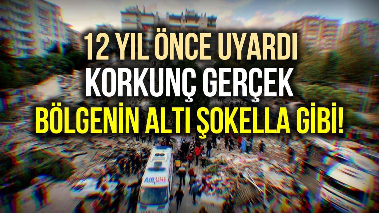 İzmir depremi için 12 yıl önce uyardı: Bölgenin altı şokella gibi!