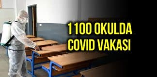 1100 okulda Covid vakası