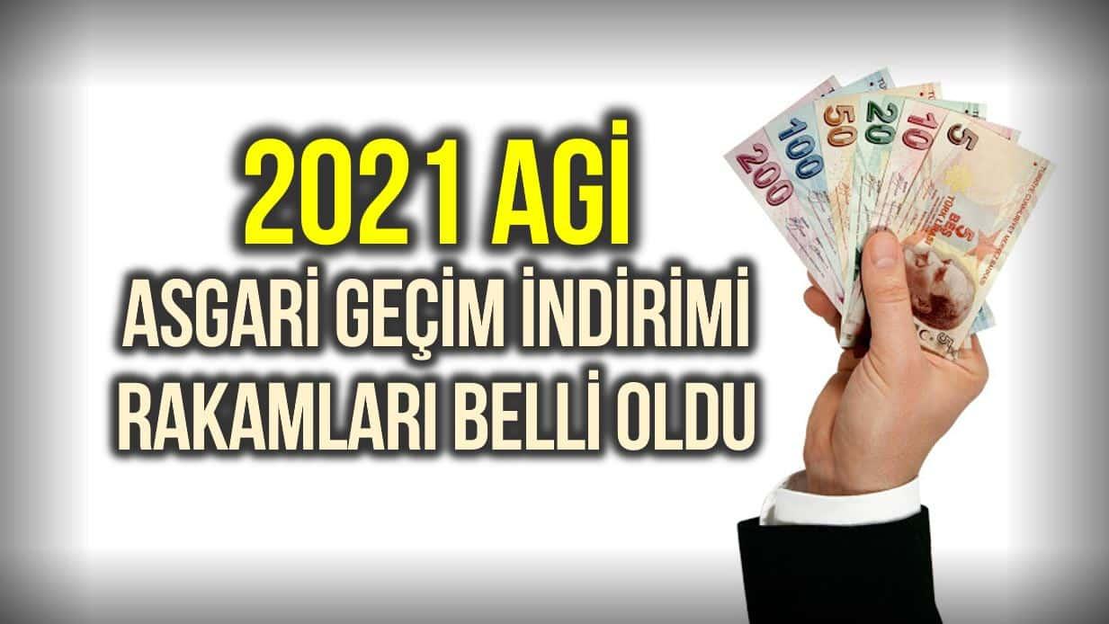 2021 asgari geçim indirimi (AGİ) rakamları belli oldu!