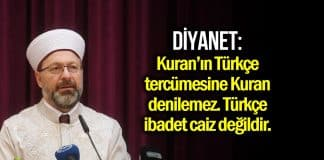 Diyanet Türkçe ibadet ve ezan açıklaması: Caiz değildir