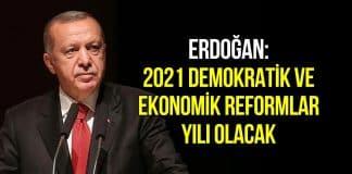 Erdoğan: 2021 demokratik ve ekonomik reformlar yılı olacak