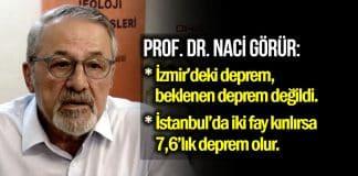 Prof. Naci Görür İstanbul ve İzmir için korkutan deprem açıklaması