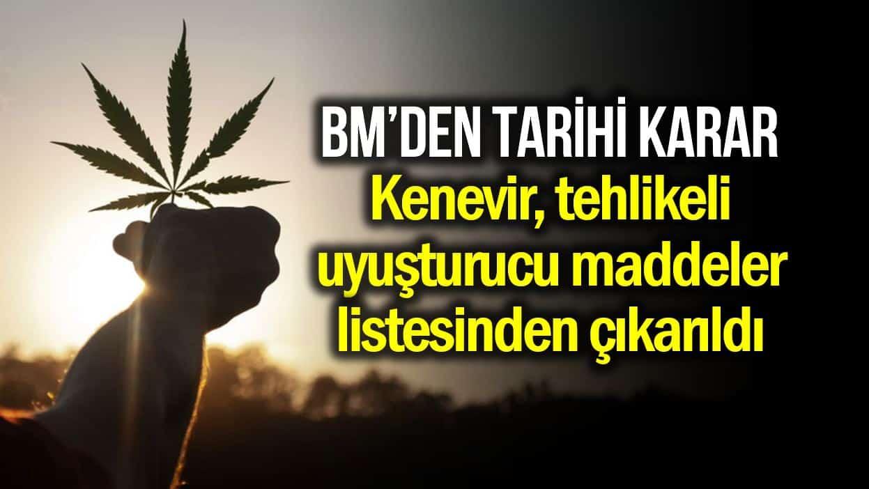 BM, kenevir (esrar) ve türevlerini narkotik maddeler listesinden çıkardı