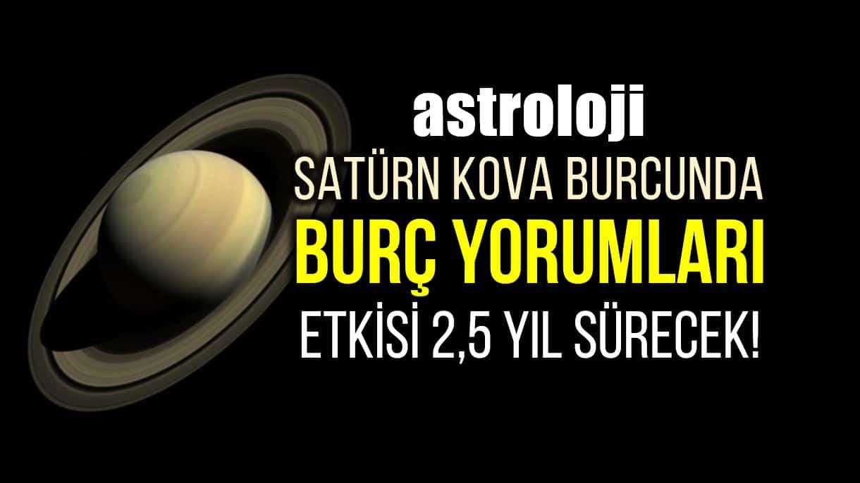 Astroloji: Satürn Kova burcunda burç yorumları