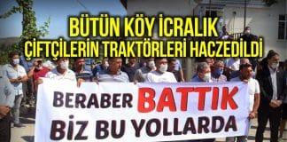 Amasya çiftçi borcunu ödeyemedi traktörler haczedildi!