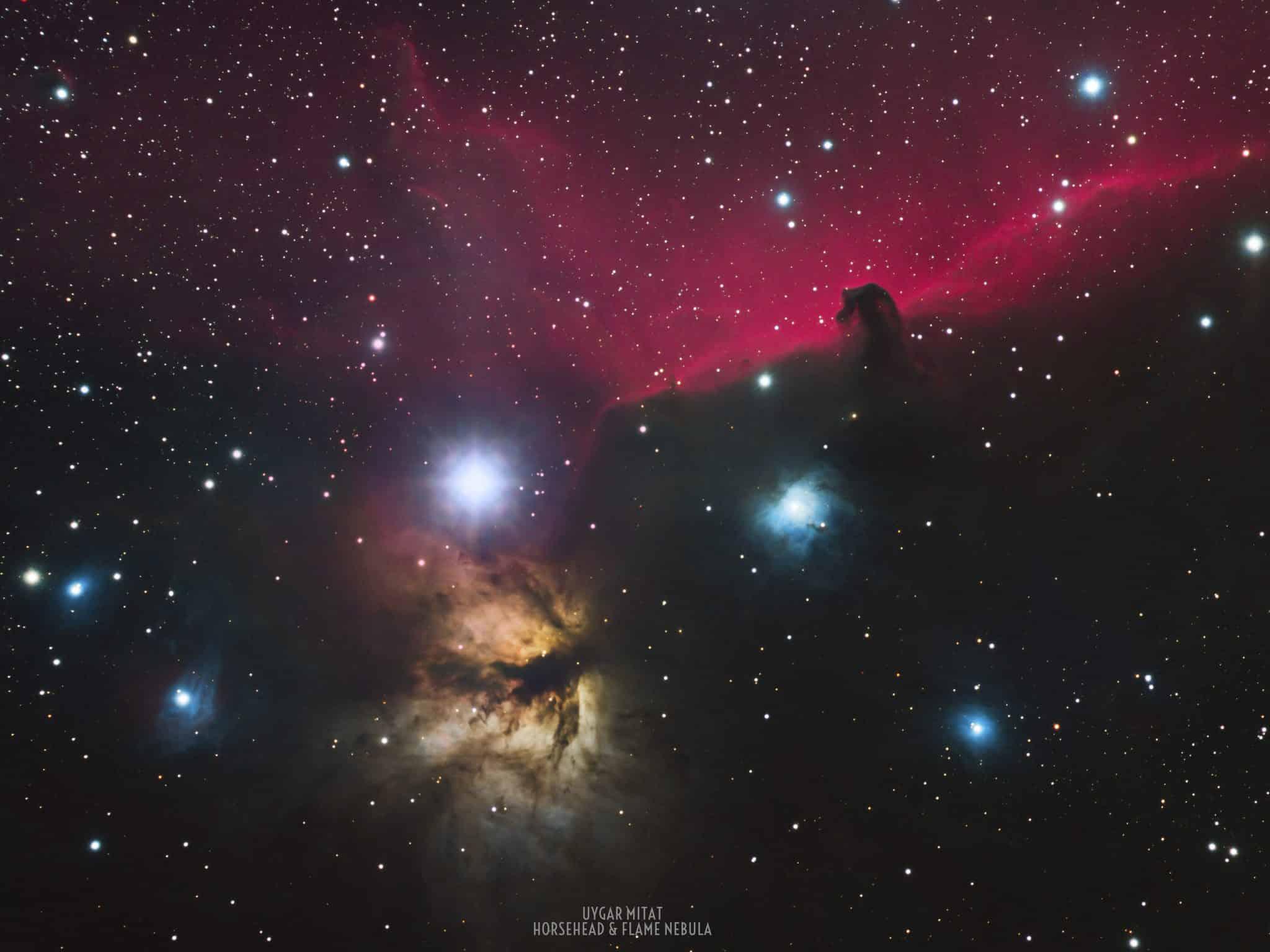Horsehead and Flame Nebula uzay fotoğrafçılığı