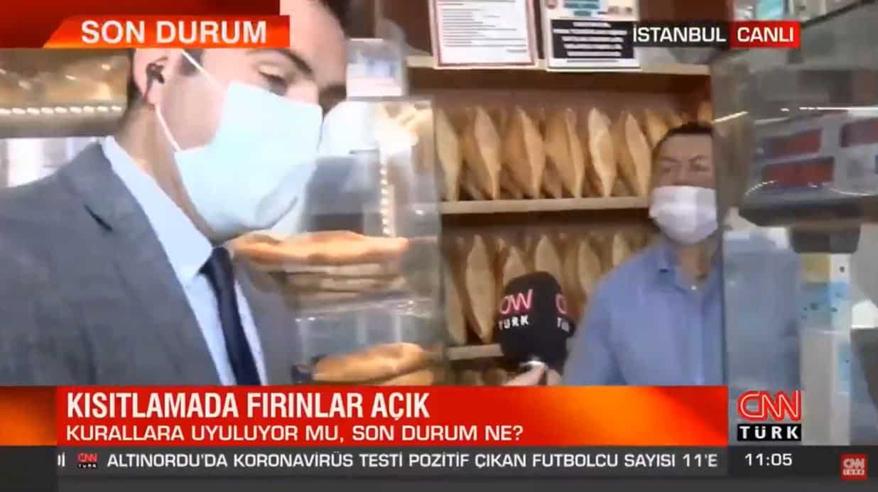 Fırıncıya halini soran CNN Türk muhabiri, cevabı duyunca mikrofonu geri çekti!