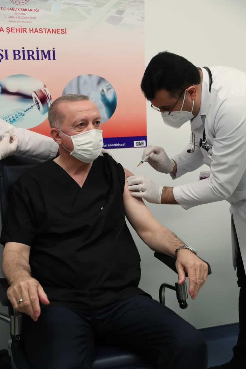 erdoğan coronavac aşısı yaptırdı