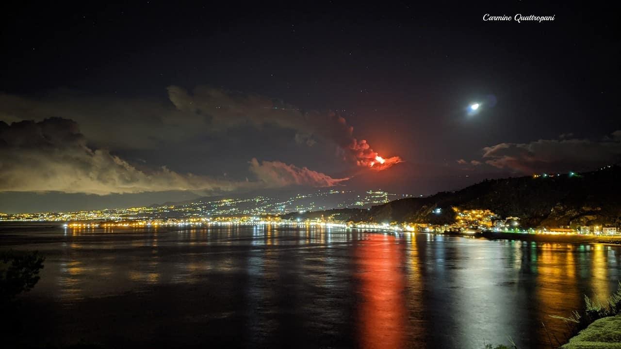 etna volkanik yanardağ patlaması